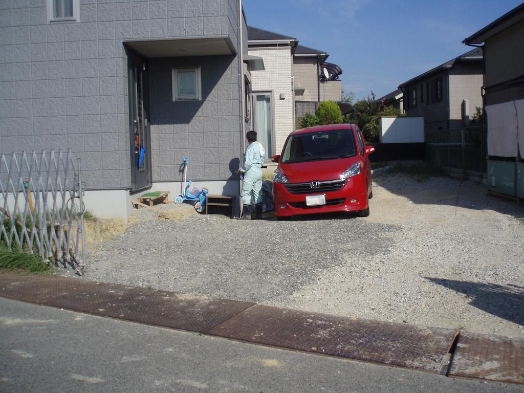 駐車場の造成